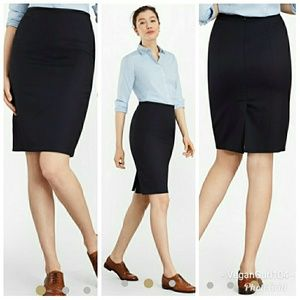 Brooks Brothers | Navy 346 Pencil Skirt (Size 14)